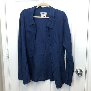 Flax Linen Button Down Shirt
